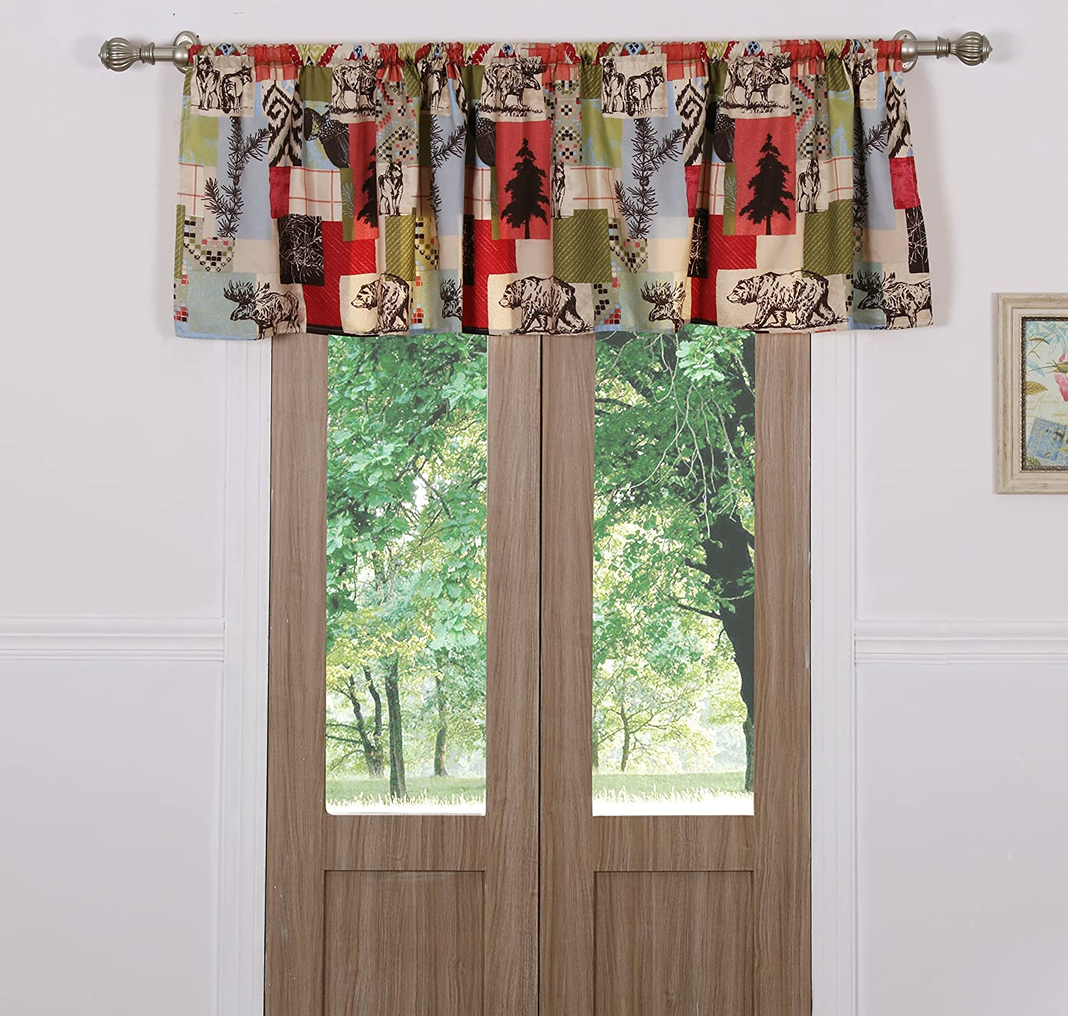 Greenland Home Rustic Lodge Window Valance Greenland Home Fashions GL-1509GWV