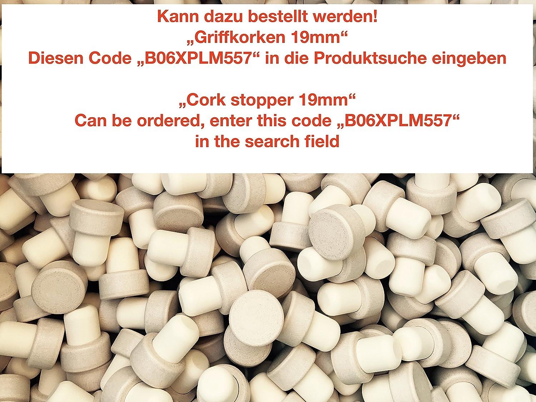 Wei/ß 6 x Griffkorken casa-vetro 6 Lot de 12 ou 24 Bouteilles en Verre 250 ML Vide New-Bost-HGK Petit Flacon pharmacien avec Bouchon en li/ège 0,25 l Verre