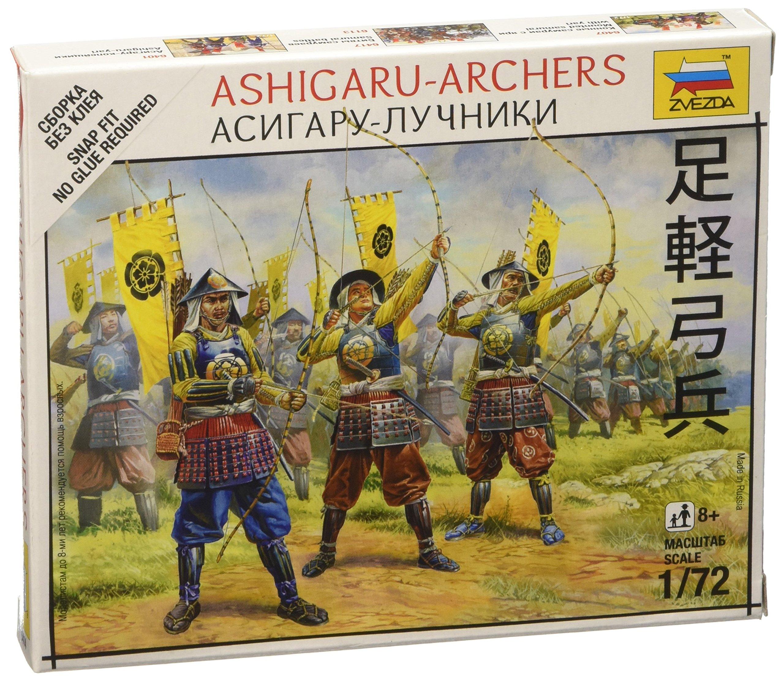 ZVEZDA 8017 Infantry Plastic Soldiers Samurai Army Scale 1:72 44 Figures 1