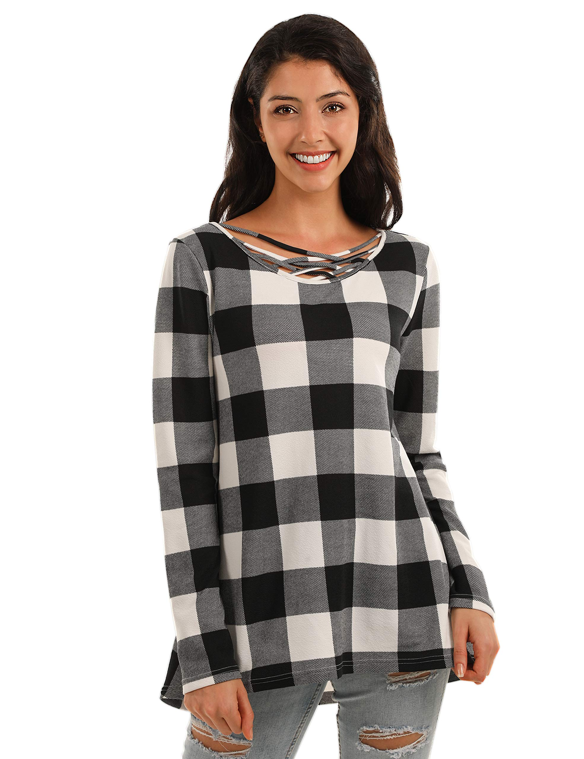 Women's plaid t shirt