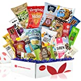 Healthy Vegan Snacks Care Package: Mix of Vegan Cookies, Protein Bars, Chips, Vegan Jerky, Fruit & Nut Snacks, Great…