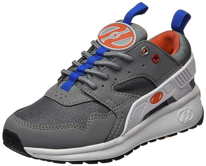 Heelys Unisex Force Sneaker Low Hals, Grau, Weiß, Orange, 33 EU