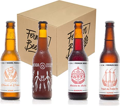Pack de 4 Botellas 33CL Cerveza Artesana Belga Fermun Beer: Amazon.es: Alimentación y bebidas