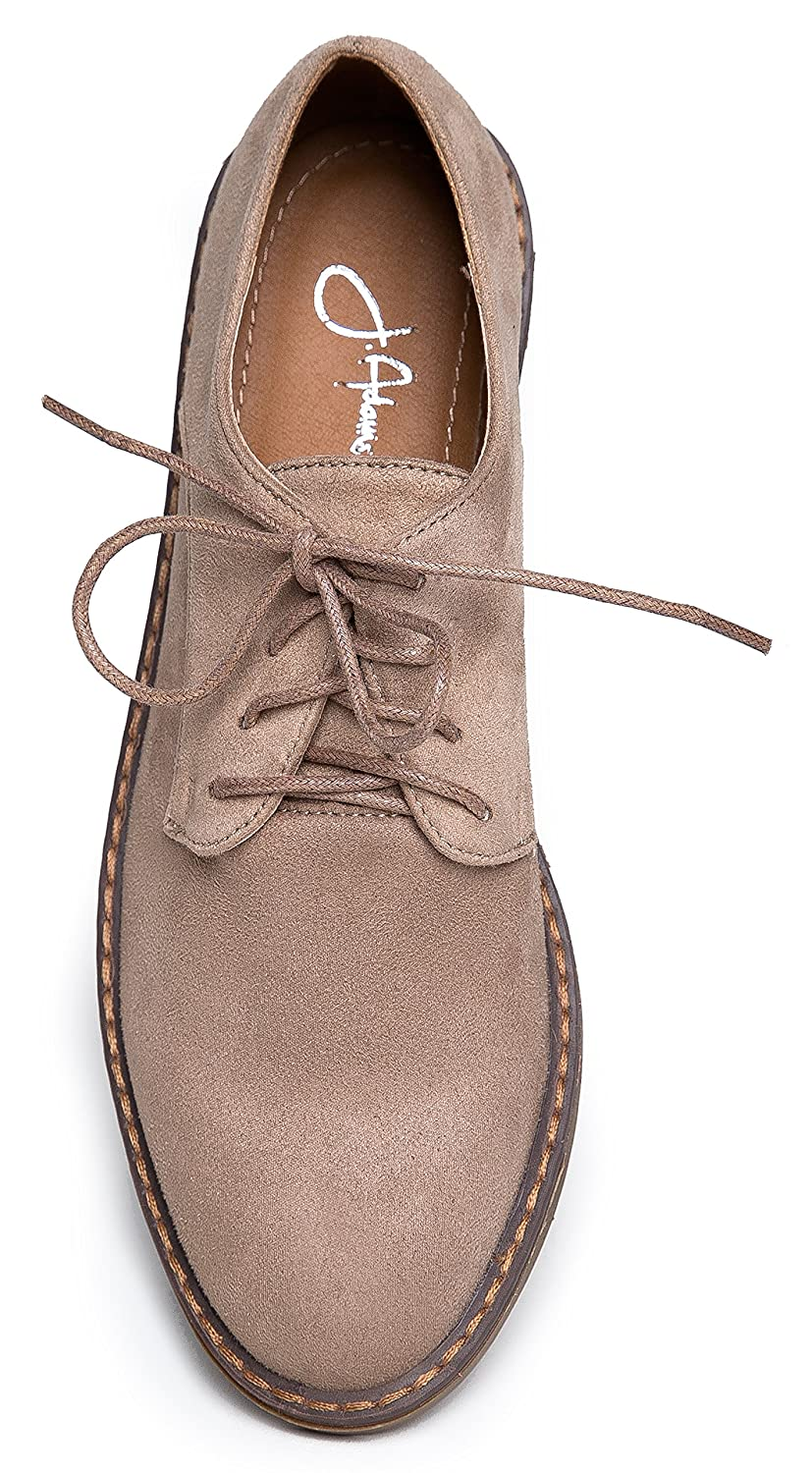 Casual Pointed Toe Chunky Heel Adams Classic Oxford Slip On Shoes J Maylor by Low Comfortable Lace up Sneakers