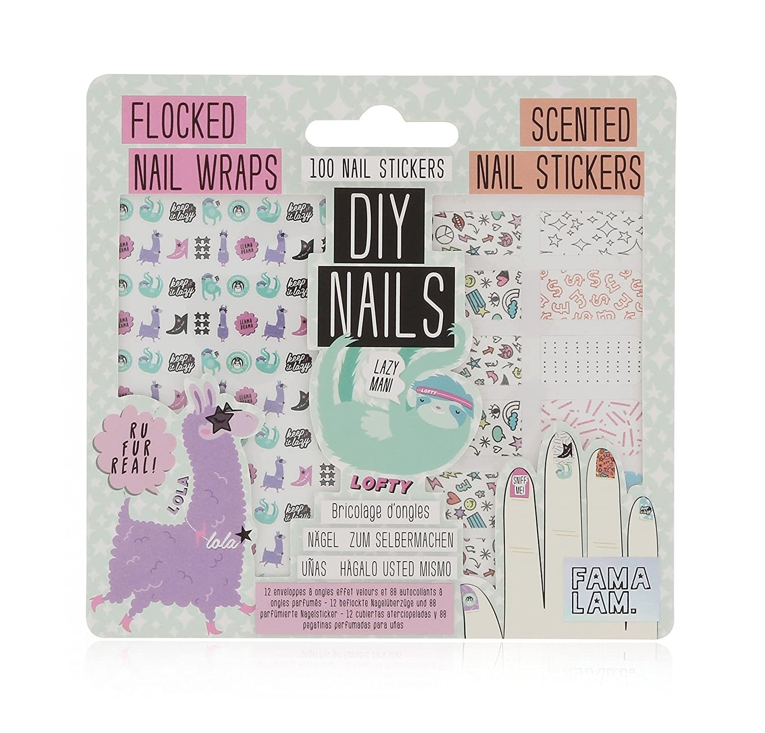 Amazon.com: NPW-USA Famalam Llama DIY Nail Wraps and Stickers, 100 ...