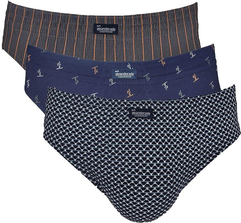 Abanderado Pack de 3 Mini Slips de algodón Estampado Slip, Azul (EST Azul Esqui 1lt), X-Large (Tamaño del Fabricante: EG/56) Hombre: Amazon.es: Ropa y accesorios