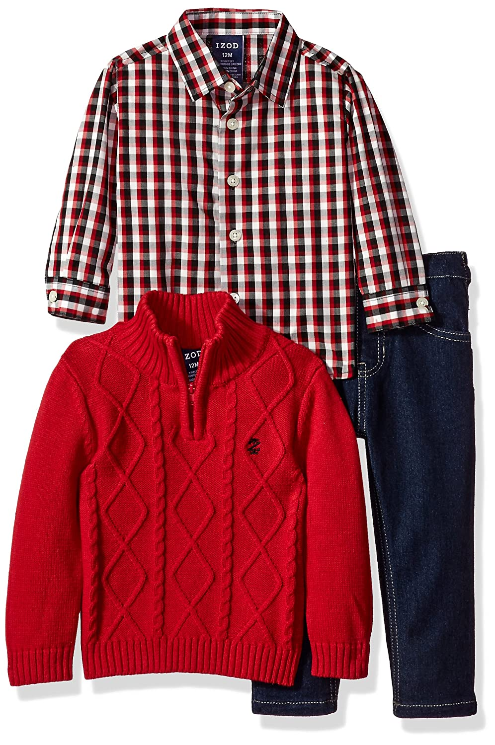 IZOD Baby Boys' Three Piece Sweater Set IZOD Children's Apparel