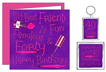 My Best Friend 40th Happy Birthday Gift Set