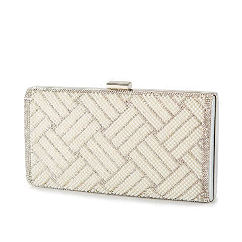 Amazon.com  Ivory Pearl Clutch Bag