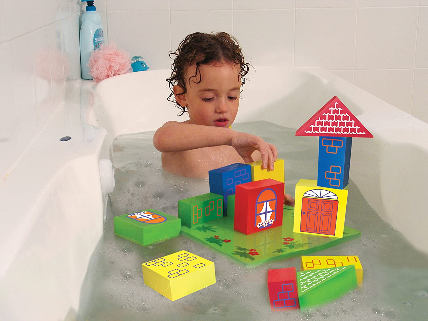Amazon.com : Edushape Floating Blocks : Toy Stacking Block Sets : Baby