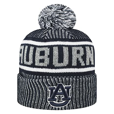 Top of the World NCAA Glacier Cuffed Knit Beanie Pom Hat-Auburn Tigers f4b3b588f