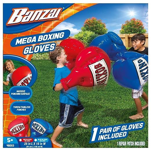 0fba89348 Amazon.com  Banzai Kids Inflatable Mega Boxing Gloves - 1 Pair of ...