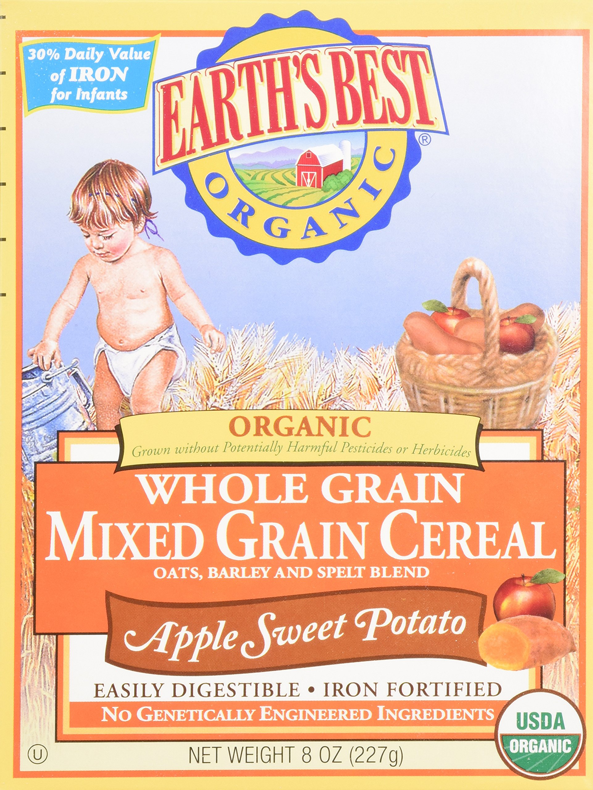 Earth's Best Whole Grain Mixed Grain Cereal Apple Sweet Potato - 8 oz. by Hain Celestial Group