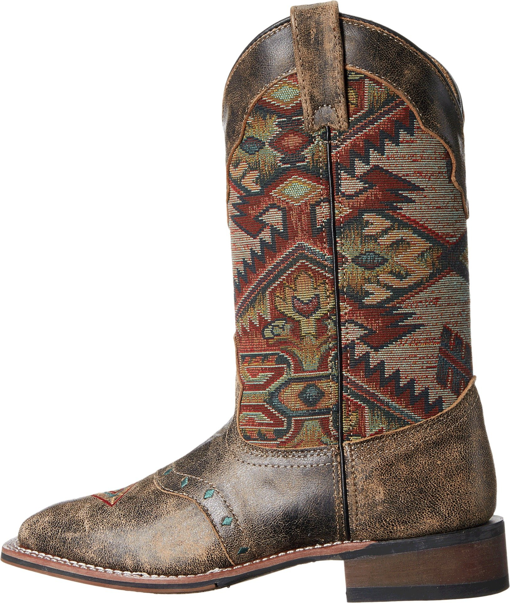 Laredo Women's Taupe With Aztec Top Boot Square Toe Taupe 7 M by Laredo (Image #2)