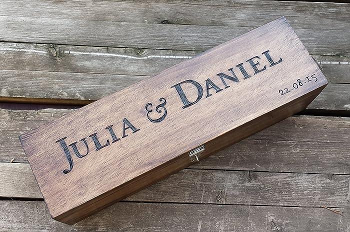 Amazon Com Custom Wine Box Personalized Wedding Wine Box Wine