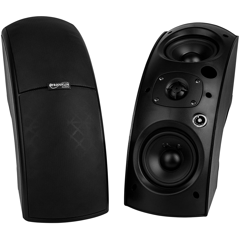 Franklin Audio CS90B Arc Array 70V / 100V Indoor/Outdoor Speaker Pair Black [並行輸入品]   B07GS18WJ8