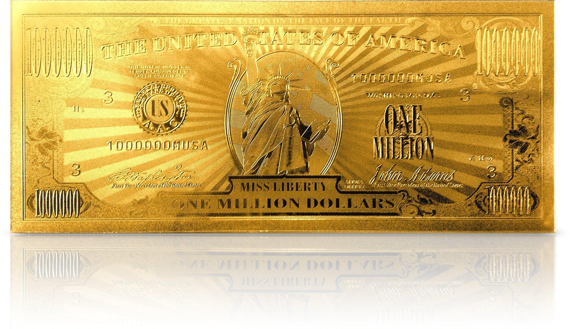 American Art Classics Gold Million Dollar Bill Commemorative by American Art Classics (Image #4)