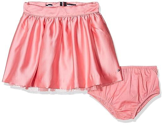 Tommy Hilfiger C Satin Skirt Falda para Niñas: Amazon.es: Ropa y ...