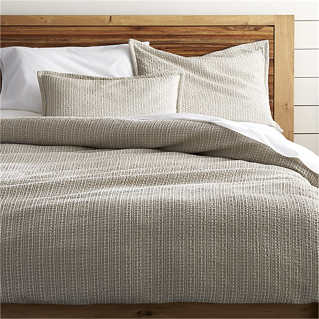 Tessa Full-Queen Duvet Cover | Crate and Barrel