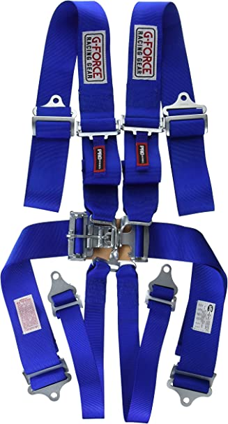 G-Force 6001BK Black 6-Point Pull-Down Latch and Link Individual Shoulder Harness Set