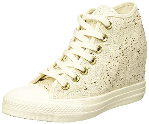 Converse 551556C  Chuck Taylor All Star Lux Wedge Sequins Parchment Womens  (6 US Women 667d3b144