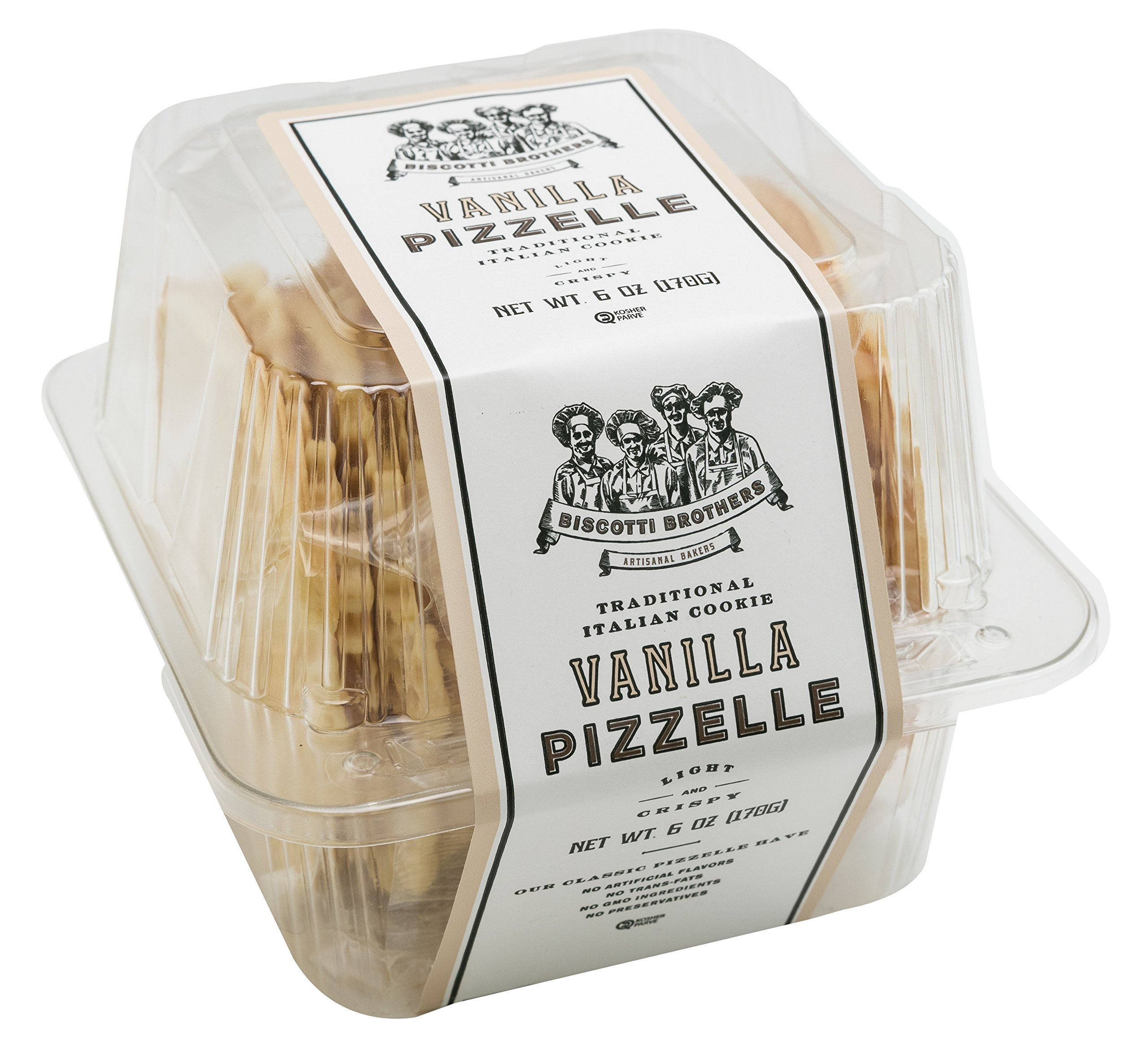 Amazon.com: Biscotti Brothers Bakery Pizzelle Cookie, Vanilla, 6 Ounce