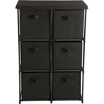 Home Like 6 Drawer Storage Organizer Unit Fabric Chest Cabinet 3 Tier Metal  Shelves 6 Non Woven Collapsible Bins Ideal Storing Clothing Underwear Jeans  ...
