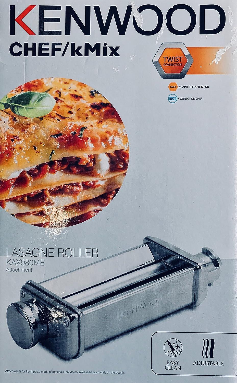 Ricetta Lasagne Kenwood.Accessorio Per La Pasta Sfogliatrice Pasta Roller Originale Kenwood Per Impastatrici Planetarie Kitchen Machine Major Premier Amazon It Casa E Cucina