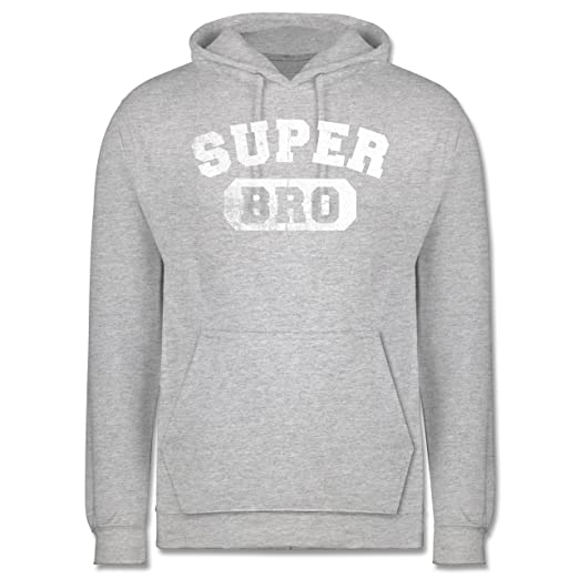 Shirtracer Bruder & Onkel - Super Bro - Vintage-&Collegestil - Herren Hoodie