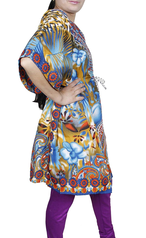 Mujeres Vestido Con Manga Larga Cuello Ancho Mini Dress Camiseta corta Kaftan Túnica Viscosa: Amazon.es: Ropa y accesorios
