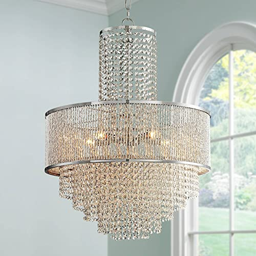 Pioggia Chrome Crystal Pendant Chandelier 23 1 2 Wide Modern 5-Light Fixture