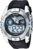 Armitron Sport Men's 40/8380BLU Blue Accented Digital Chronograph Black Resin Strap Watch