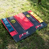 Pinty Wood Cornhole Boards Toss Game Set with Official Sized Bean Bags and Carrying Case for Corn Hole Outdoor Game