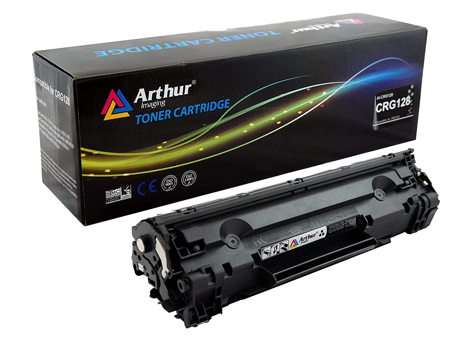 Arthur Imaging Compatible Toner Cartridge Replacement for Canon CRG128 (3500B001AA) (Black, 1-Pack)