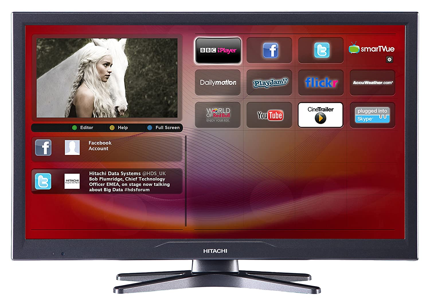 hitachi 24 inch hd ready freeview play smart led tv. hitachi 24hxj15u hd ready led dvd combi smart tv: amazon.co.uk: electronics 24 inch hd freeview play led tv