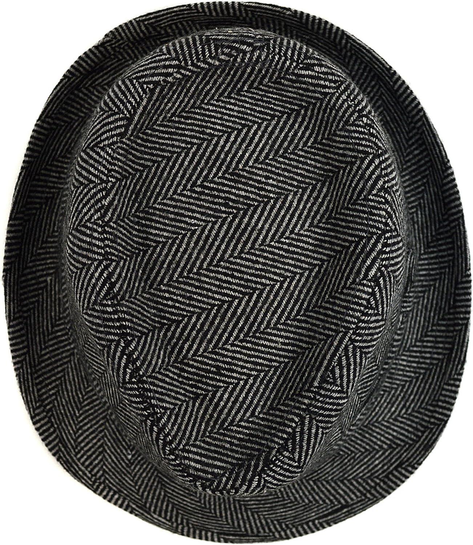 WESTEND Men/'s Herringbone Fall//Winter Fedora Hat