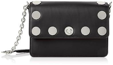 2e97f978b425e Image Unavailable. Image not available for. Color  MICHAEL Michael Kors  Womens Rivington Natalie Crossbody Handbag Black Small