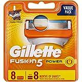 Gillette Fusion Power Men's Fusion Shaving Razors / Blades Refill, 8 Pack