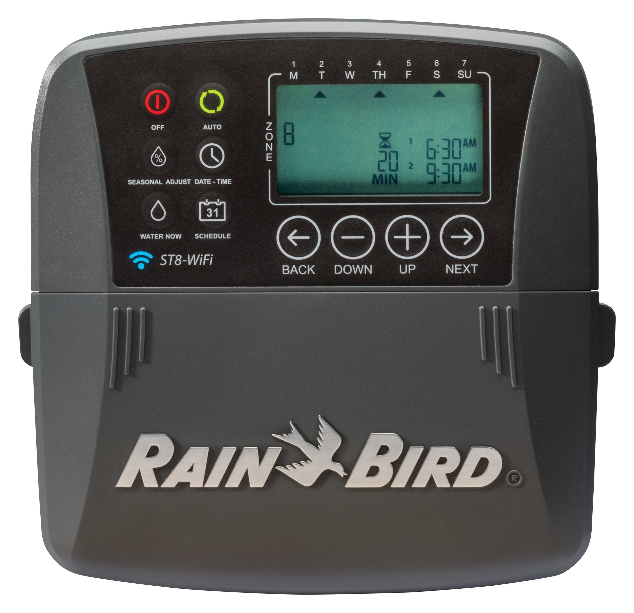 Rain Bird ST8I-WIFI Smart Indoor WiFi Sprinkler/Irrigation System Timer/Controller, WaterSense Certified, 8-Zone/Station, Works with Amazon Alexa by Rain Bird