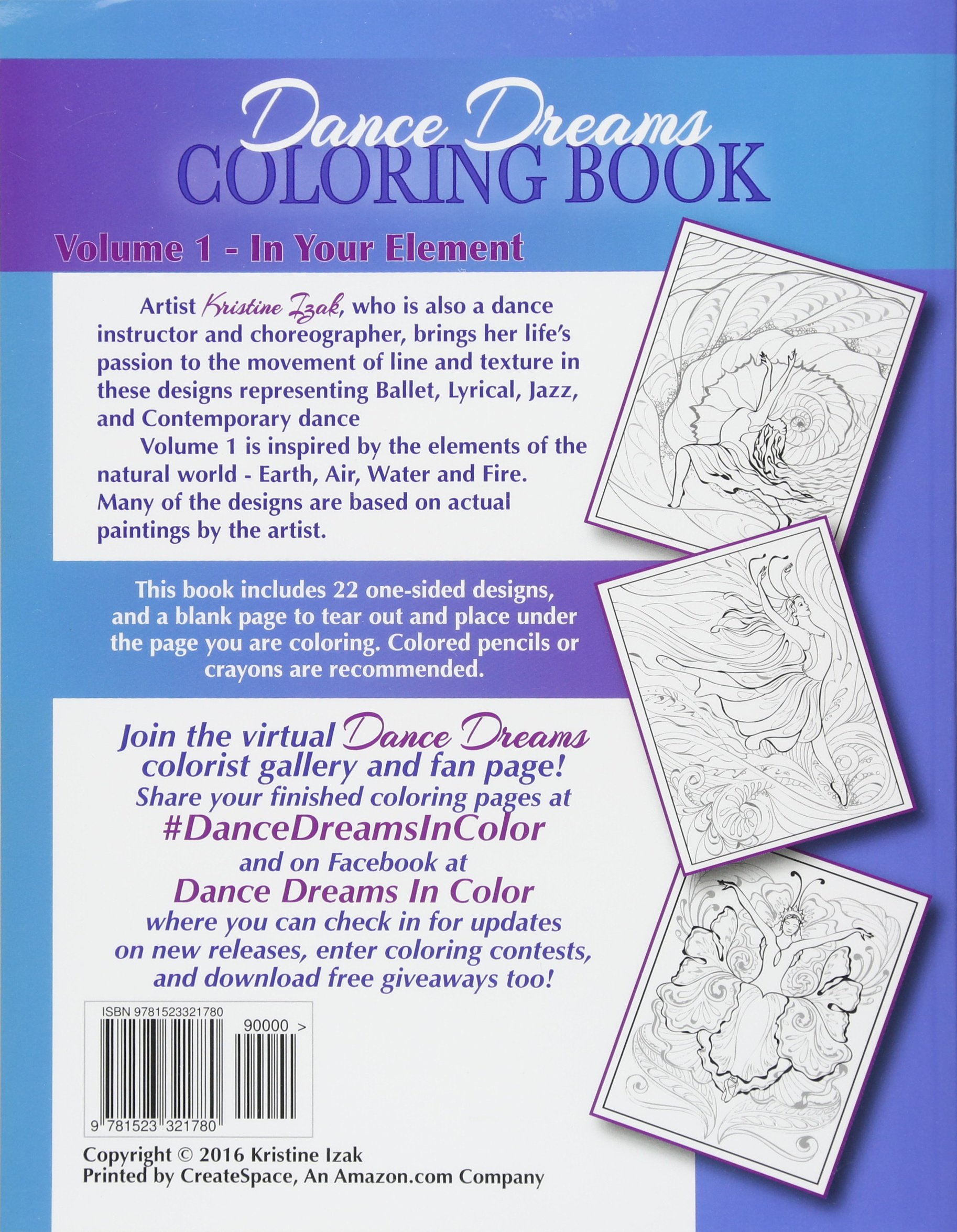 Dance Dreams Coloring Book 22 Designs To Inspire The Dancing Spirit