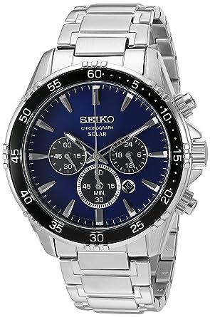 857967720 Seiko Men's 'Chronograph' Quartz Stainless Steel Dress Watch (Model: ...