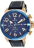 Jet Set - J6660R-363 - New York - Montre Homme - Quartz Chronographe - Cadran Bleu - Bracelet Cuir Bleu