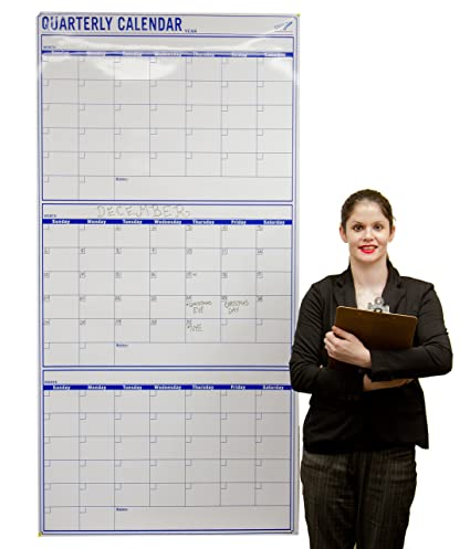 Amazon Com Dry Erase Calendar For Wall 72 X 36 Vertical Blank