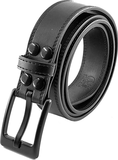 ITAY Metal Free Leather Belt 34 mm with Airport Friendly Nickel Free Strong New Buckle