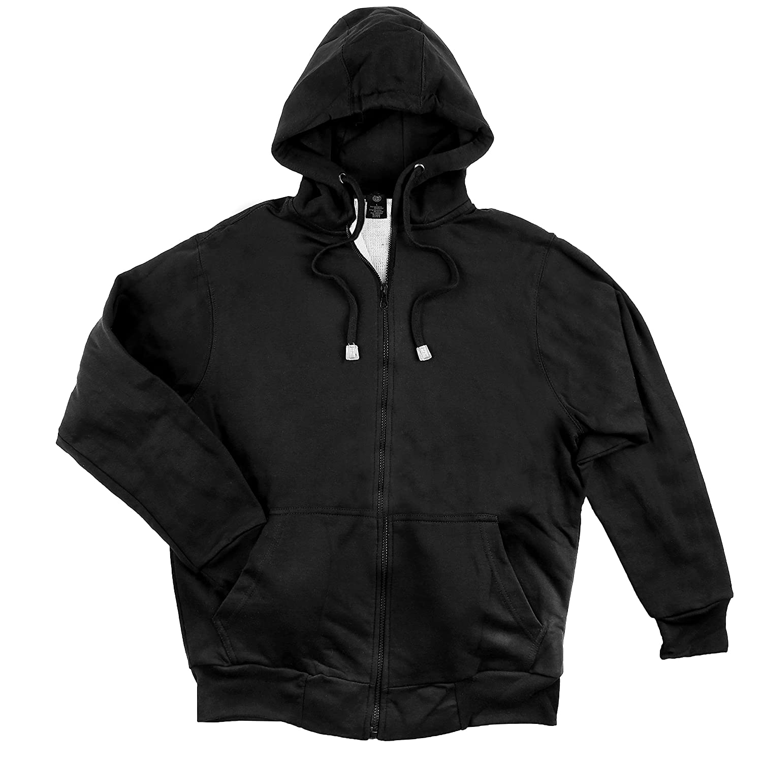 North 15 Men's Hooded Sweatshirt Waffle Knit Thermal Lined - Zipper Front 60%OFF