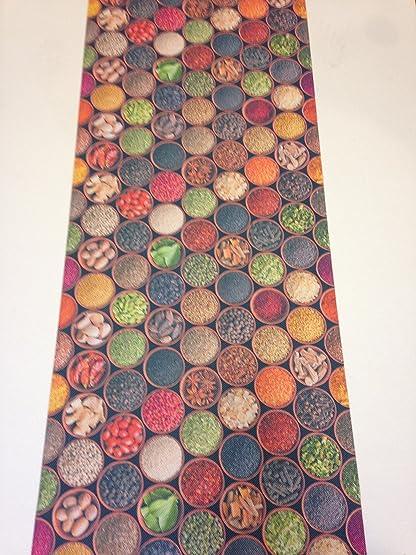 Tappeto cucina 52 x 240 spezie orient cannella peperoncino ...