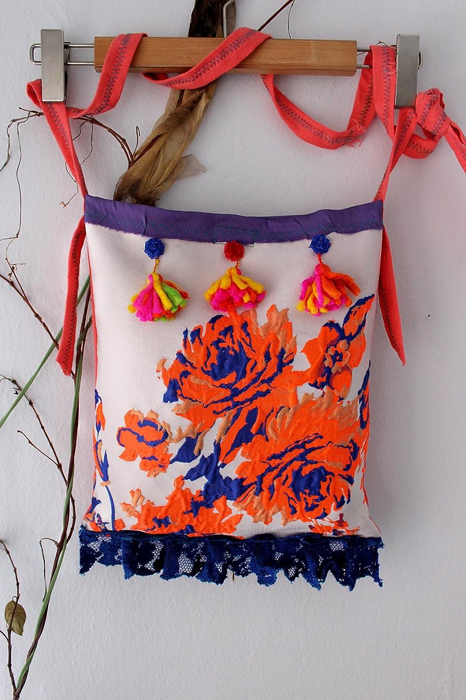 d06852082 Amazon.com: Hippie Handbag, Handmade Cloth Bag, Orange Boho Handbag, Recycle  Bag, Orange Denim bag, Orange Shoulder Bag, Patchwork Handbag, Punk Handbag:  ...