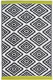 Fab Hab Réversible , intérieur / extérieur Météo Resistant Tapis de sol - Valencia - Grey (90 cm x 150 cm)