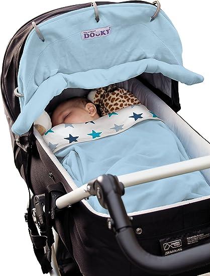 Dooky X126609 sun cover for prams/strollers - sun covers for prams/strollers (Negro, Azul, Gris, Color blanco, Pattern, Velcro, 40+, Lavado de manos, ...
