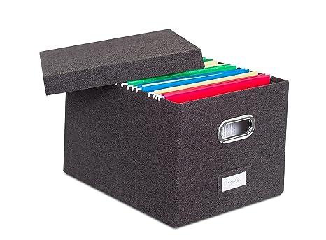 Superbe Internetu0027s Best Collapsible File Storage Organizer | Decorative Linen  Filing U0026 Storage Office Box | Letter